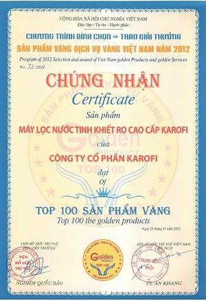 Top 100 sản phẩm vàng năm 2012
